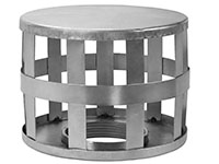 4 Inch (in) Hose Size Cold Rolled Zinc Plated Type SH Square Hole Steel Strainer (SH 40B)