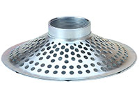 3 Inch (in) Hose Size Cold Rolled Zinc Plated Steel Type SKTH Skimmer Round Hole Top Strainer (SK 35TH)