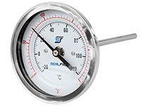 "3"" Bi-Metal Thermometer Stainless Case -3250250"