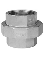 3 Inch (in) Size 316 Stainless Steel Union
