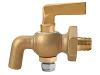 1/8 Inch (in) Size Polished Brass 41 Series Lever Handle Bibb Nose Cock Valve