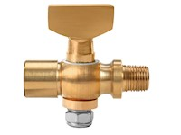 1/8 Inch (in) Size Polished Brass 41 Series Tee Handle Female x Male Cock Valve