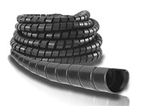 6 Inch (in) Size Black Polyethylene Spiral Tek Guard© Hose