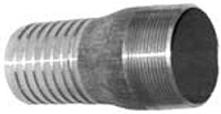 Combination Nipples for Straight End Hose - Male N.P.T. Unplated