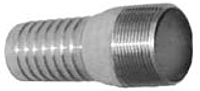 Combination Nipples for Straight End Hose - Male N.P.T. Zinc Plated
