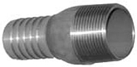 Combination Nipples for Straight End Hose - Male N.P.T. 304 Stainless