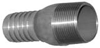 Combination Nipples for Straight End Hose - Male N.P.T. 316 Stainless