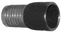 Combination Nipples for Straight End Hose - Blank End Steel