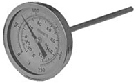 "3"" Bi-Metal Thermometer Stainless Case"