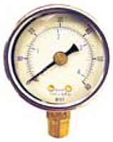 "Pressure & Vacuum Gauges - 1 1/2"" Face x 1/8"" Bottom-Steel Case Lower Mount"