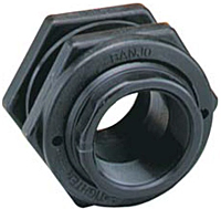 Poly Bulkhead Fittings with EPDM