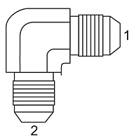 SAE 37 To JIC - 90 Degree Union Elbow
