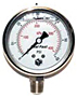 "Hydraulic Gauges Liquid Filled - 2 1/2"" Face x 1/4"" All Stainless Liquid Filled Lower Mount"