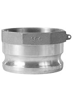 3 Inch (in) Size Aluminum Type A Female BSP x Male Adapter Cam and Groove Coupling