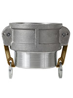 3 Inch (in) Size Aluminum Type B Female Coupler x Male NPT Cam and Groove Coupling