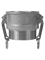 3 Inch (in) Size 316 Stainless Steel Type B Female Coupler x Male NPT Cam and Groove Coupling
