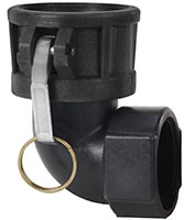 2 Inch (in) Size Polypropylene Type D Female Coupler x Female NPT 90 Degree Elbow Cam and Groove Coupling - 2