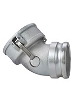 3 Inch (in) Size Iron Type DA Female Coupler x Male Adapter 45 Degree Elbow Cam and Groove Coupling - 2