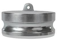 3 Inch (in) Size Plated Iron Type DP Dust Plug Adapter