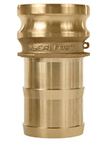 3 Inch (in) Size Brass Type E Male Adapter x Shank Cam and Groove Coupling
