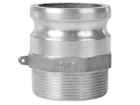 3 Inch (in) Size Aluminum Type F Male Adapter x Male NPT Cam and Groove Coupling (F 300IAL)