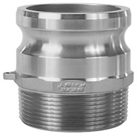 3 Inch (in) Size 304 Stainless Steel Type F Male Adapter x Male NPT Cam and Groove Coupling