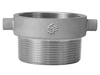 Aluminum 3 Inch (in) Female BSP x 3 Inch (in) Male NPT Size Thread Reducer Fitting