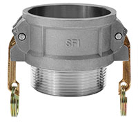 3 Inch (in) Size 356-T6 Premium Aluminum Type B Female NPT x Male NPT Cam and Groove Coupling (B 300AL)