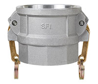 3 Inch (in) Size 356-T6 Premium Aluminum Type D Female Coupler x Female NPT Cam and Groove Coupling (D 300AL)
