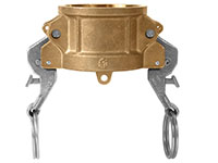 3 Inch (in) Size Brass Type DC Self-Locking Coupler Dust Cap