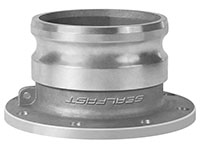 3 Inch (in) Size Aluminum Male Adapter x TTMA Cam and Groove Coupling