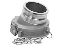 1/2 x 3/4 Inch (in) Size Aluminum Type GA Gravity Drop Adapter Coupling with Stainless Steel Self-Locking Handles