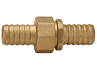 3/8 x 3/4 Inch (in) Size Brass Male x Female NPSH Short Shank Hose Nipple Fitting
