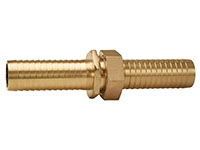 2 x 2 Inch (in) Size Brass Long Shank Hose Nipple