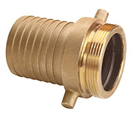 3 Inch (in) Size Brass Male NPSH Threads Shank Coupling