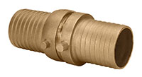 3 Inch (in) Size Brass Male x Female NPSH Threads Shank Coupling