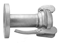 3 Inch (in) Size Zinc Plated Steel Female Flanged Bauer Type Coupling