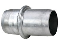 6 Inch (in) Size Zinc Plated Steel Hose Shank Male Coupling