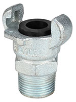 1 Inch (in) Size Zinc Plated Iron Male NPT Hose Ends Crowfoot Coupling