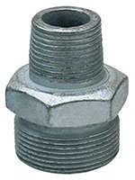 1 Inch (in) Size Plated Iron Ground Joint Male Spud