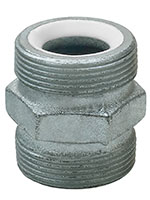 1 Inch (in) Size Plated Iron Ground Joint Double Spud
