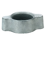 1 Inch (in) Size Plated Iron Ground Joint Wing Nut