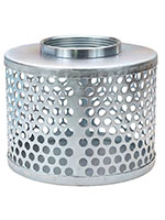 4 Inch (in) Hose Size Cold Rolled Zinc Plated Steel Type RH Round Hole Strainer (RH 40B)