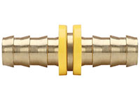 3/8 Inch (in) Hose Inner Diameter Brass Hose Splicer Grip-On Fitting