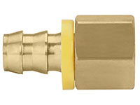 1/2 Inch (in) Hose Inner Diameter and 1/2 Inch (in) Pipe Thread size Brass Hose x FPT Grip-On Fitting