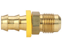 1/2 Inch (in) Hose Inner Diameter and 1/2 Inch (in) Pipe Thread size Brass Hose x JIC Male 37 Degree Grip-On Fitting