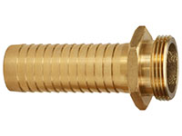 2 x 2 Inch (in) Size Brass Male NPSH Threads Long Shank Hose Nipple Fitting