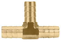 1/2 Inch (in) Hose I.D. Brass Hose Shank Barb Tee Fitting