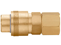 1.97 Inch (in) Length Brass Auto Industrial Interchange 1/4 Inch (in) Body Quick Connect Socket