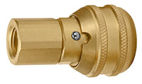 1.97 Inch (in) Length Brass Auto Industrial Interchange 1/4 Inch (in) Body Quick Connect Socket (AMASL-02AF) - 2